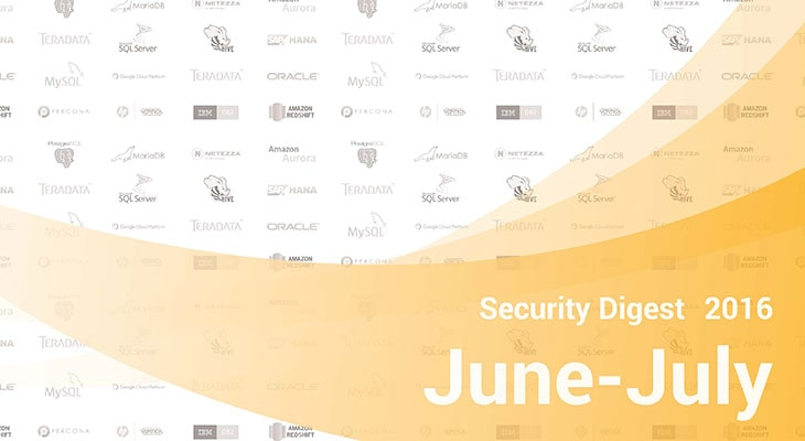 Database Security Digest, June-July 2016