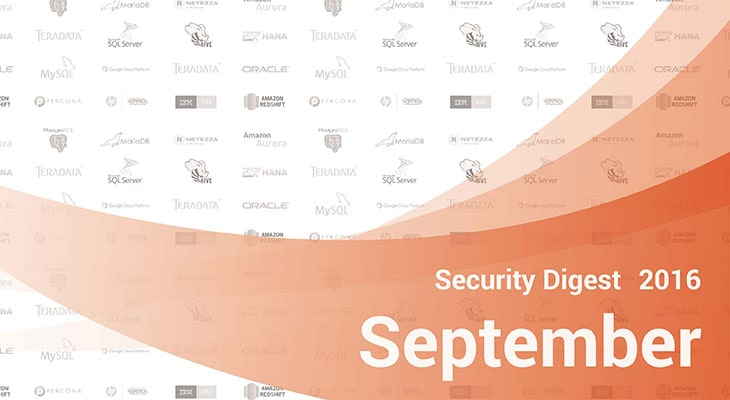 Database Security Digest – September 2016