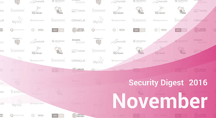 Database Security Digest – November 2016