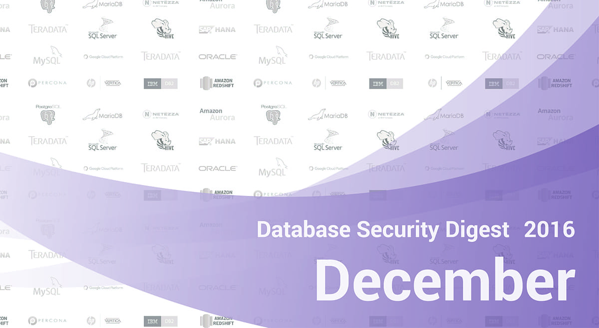 Database Security Digest – December 2016