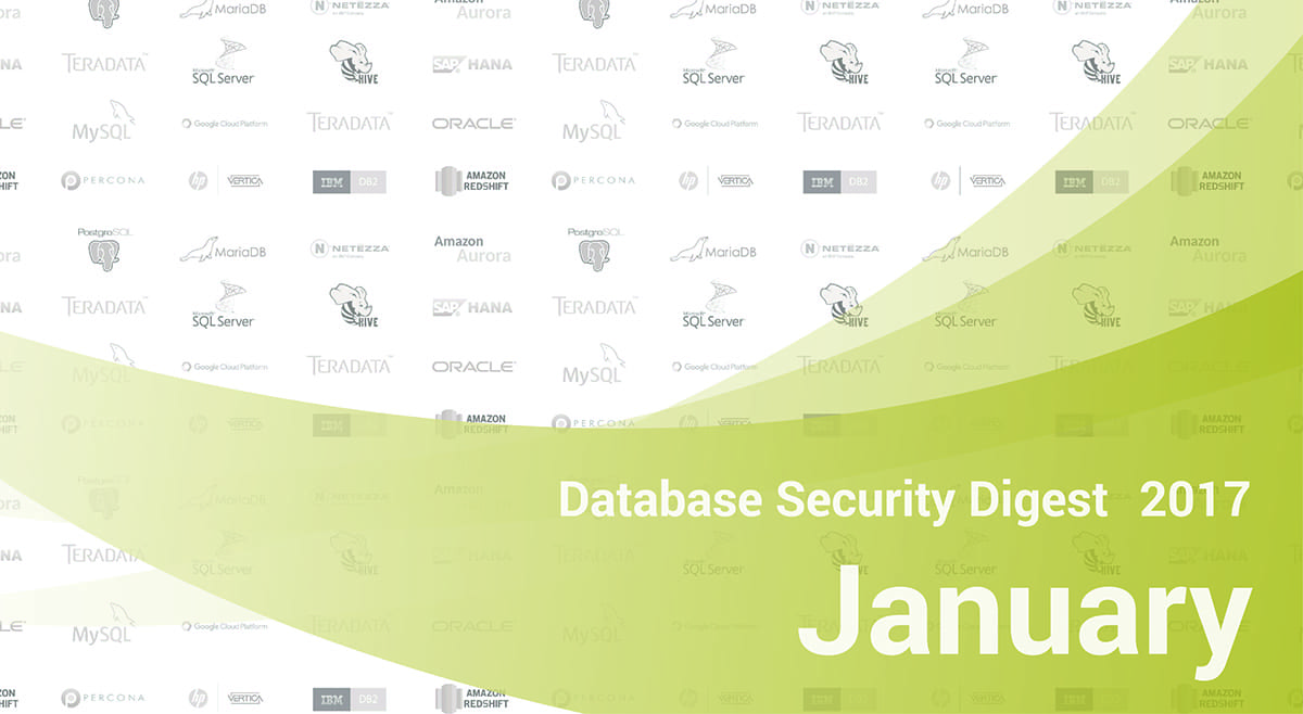Database Security Digest – January 2017