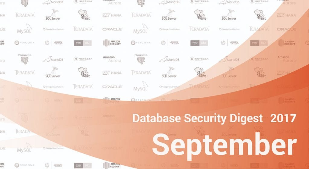 Database Security Digest – September 2017