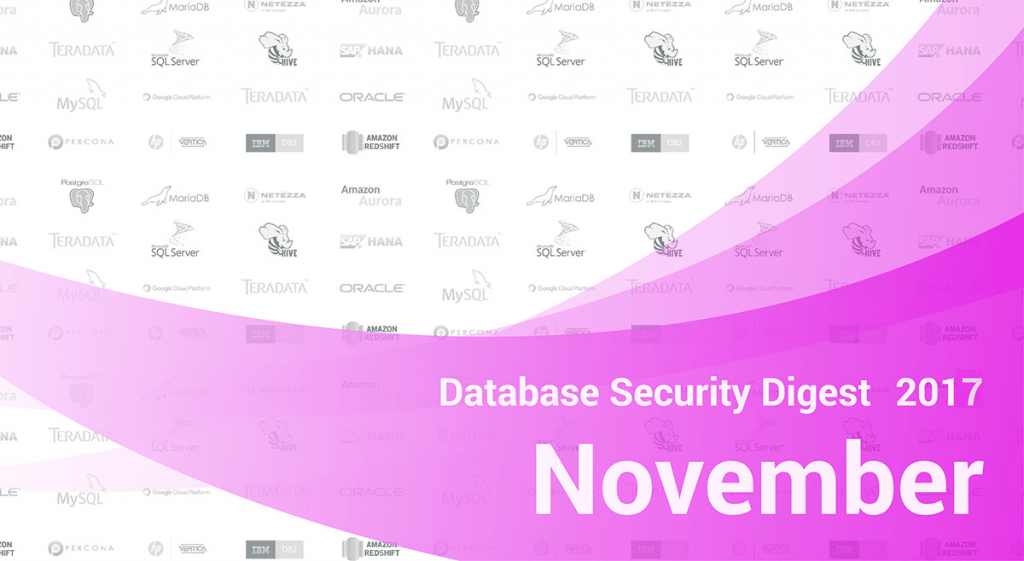 Database Security Digest – November 2017