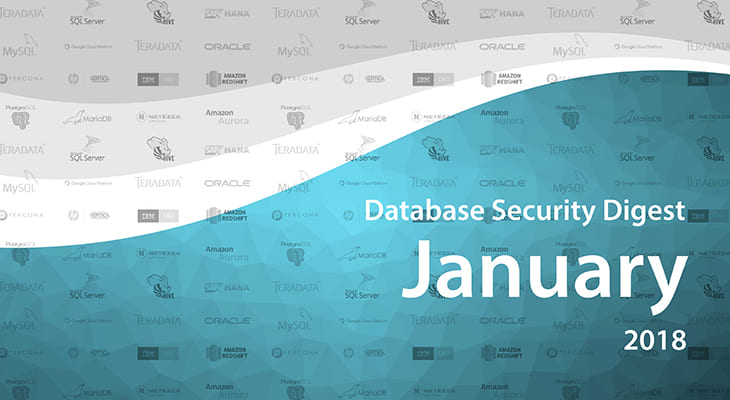 Database Security Digest – January 2018