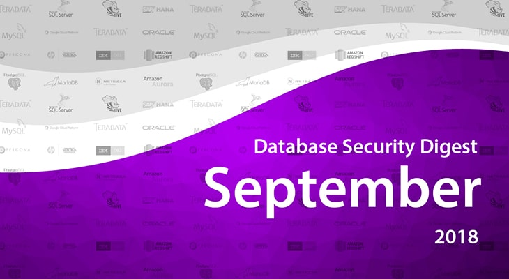 Database Security Digest – September 2018