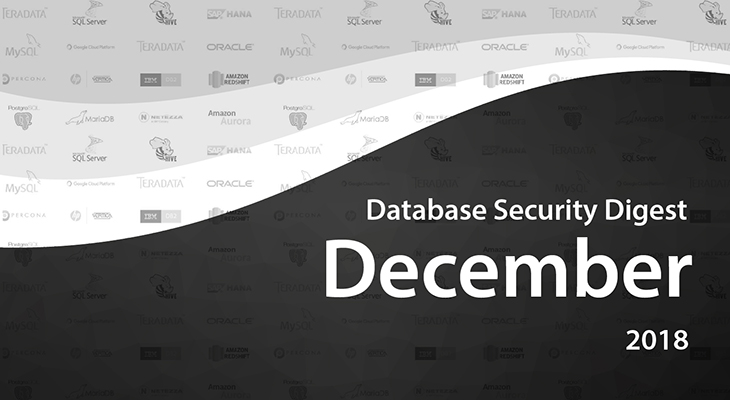 Database Security Digest – December 2018
