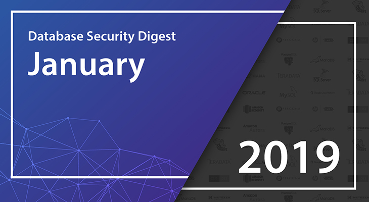 Database Security Digest – January 2019