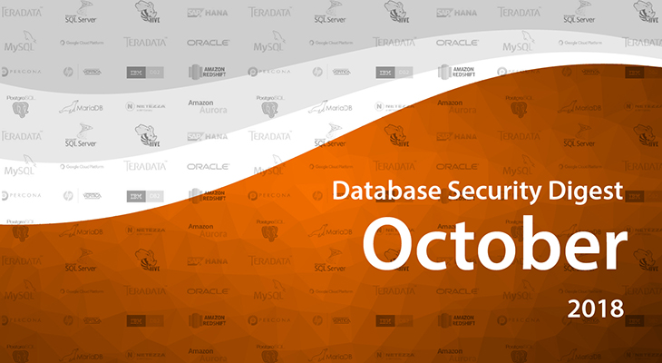 Database Security Digest – October 2018
