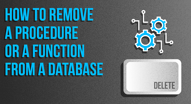How To Remove a Procedure or a Function From a Database